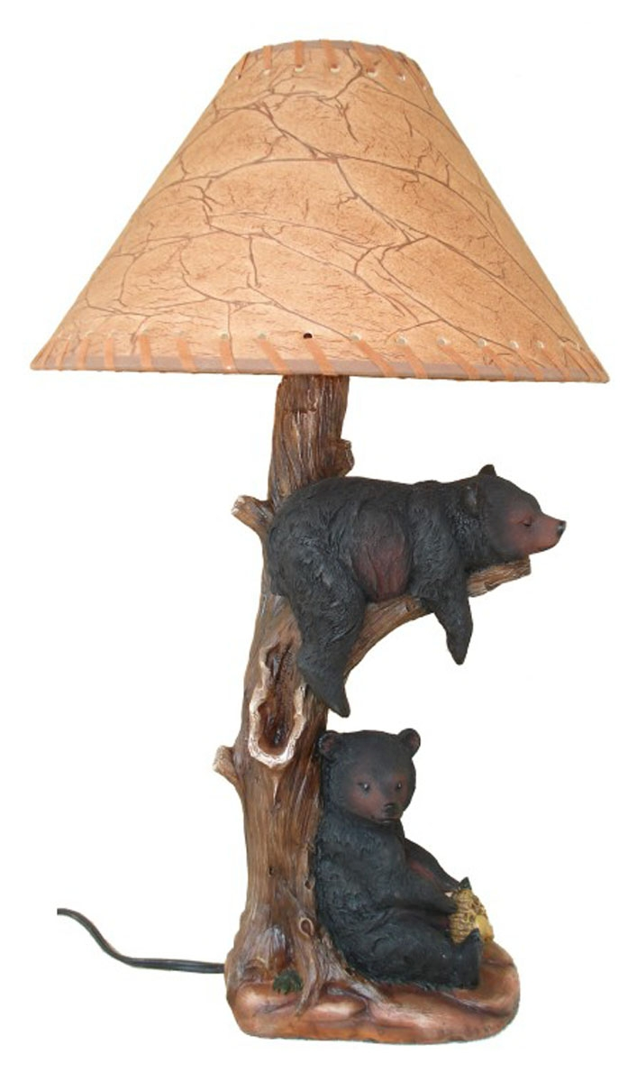 Two Bears Napping in a Tree Desk Lamp – Tree Desk Lamp